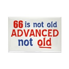 66 years is not old Rectangle Magnet (100 pack)
