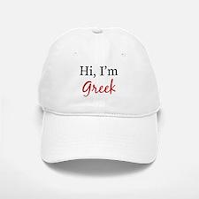Hi, I am Greek Baseball Baseball Cap