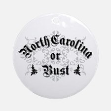 North Carolina or Bust Ornament (Round)