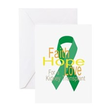 Faith,Hope,love For a Kidney Transplant Ribbon Gre