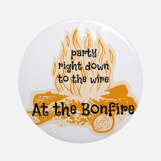 Bonfire Round Ornament