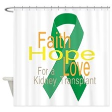 Faith,Hope,love For a Kidney Transplant Ribbon Sho