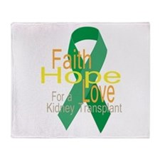 Faith,Hope,love For a Kidney Transplant Ribbon Thr