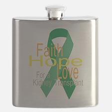 Faith,Hope,love For a Kidney Transplant Ribbon Fla