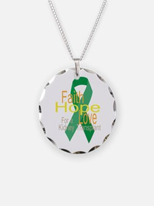 Faith,Hope,love For a Kidney Transplant Ribbon Nec