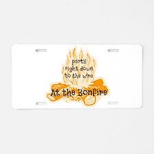 Bonfire Aluminum License Plate