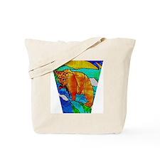BEAR CATCHING FISH Tote Bag