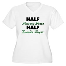 Half Nursery Nurse Half Zombie Slayer Plus Size T-