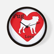 Pug Love Wall Clock