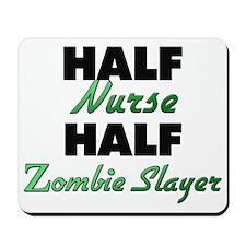 Half Nurse Half Zombie Slayer Mousepad