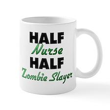 Half Nurse Half Zombie Slayer Mugs