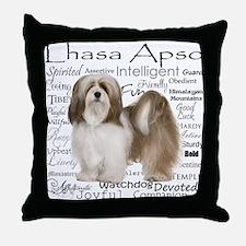 Lhasa Apso Traits Throw Pillow