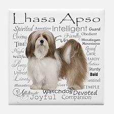 Lhasa Apso Traits Tile Coaster