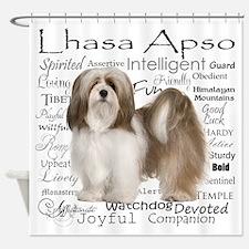 Lhasa Apso Traits Shower Curtain