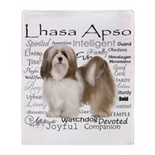 Lhasa Apso Traits Throw Blanket