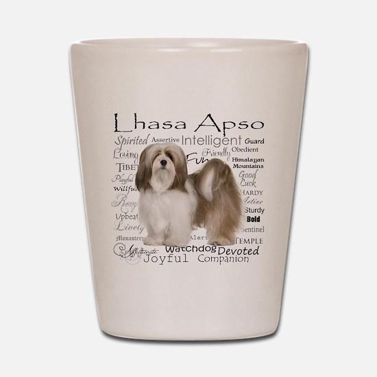 Lhasa Apso Traits Shot Glass