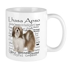 Lhasa Apso Traits Small Mugs