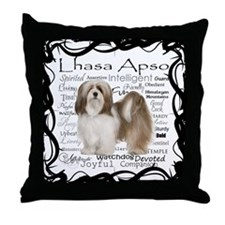 Lhasa Apso Traits Throw Pillow