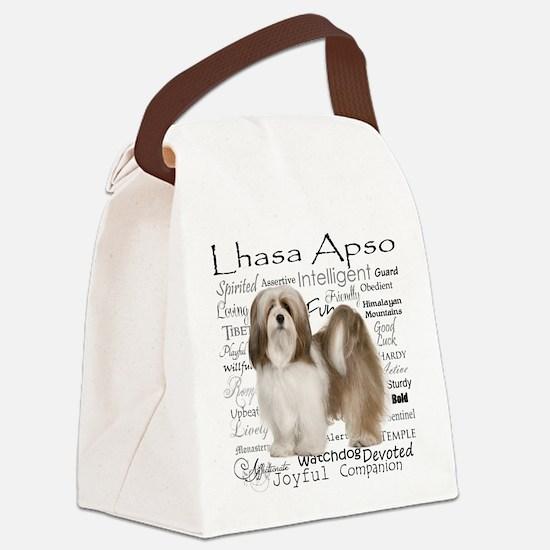 Lhasa Apso Traits Canvas Lunch Bag