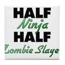 Half Ninja Half Zombie Slayer Tile Coaster