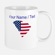 Custom South Carolina American Flag Mugs