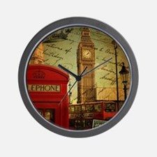 vintage London UK fashion  Wall Clock