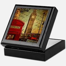 vintage London UK fashion  Keepsake Box