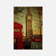 vintage London UK fashion  Rectangle Magnet
