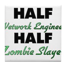 Half Network Engineer Half Zombie Slayer Tile Coas