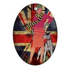 London UK british flag fashion Oval Ornament