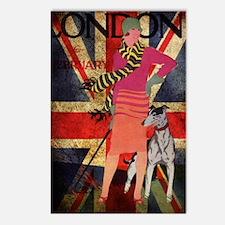 London UK british flag fa Postcards (Package of 8)