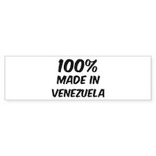 100 Percent Venezuela Bumper Bumper Sticker