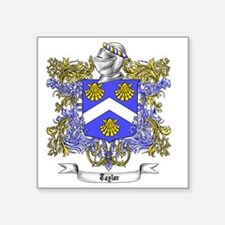 """Taylor Family Crest 4 Square Sticker 3"""" x 3"""""""