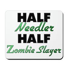 Half Needler Half Zombie Slayer Mousepad