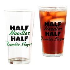 Half Needler Half Zombie Slayer Drinking Glass