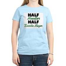Half Needler Half Zombie Slayer T-Shirt