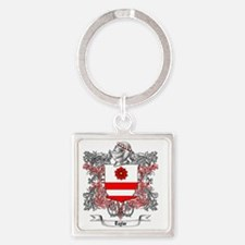 Taylor Family Crest 5 Square Keychain