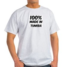 100 Percent Tunisia Ash Grey T-Shirt