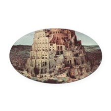 Tower of Babel by Pieter Bruegel Oval Car Magnet