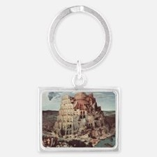 Tower of Babel by Pieter Bruege Landscape Keychain