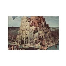 Tower of Babel by Pieter Bruegel Rectangle Magnet
