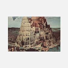 Tower of Babel by Pieter Bruegel Rectangle Magnet