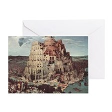 Tower of Babel by Pieter Bruegel Greeting Card