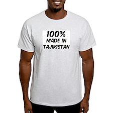 100 Percent Tajikistan Ash Grey T-Shirt
