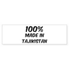 100 Percent Tajikistan Bumper Bumper Sticker