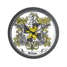 Williams Family Crest 2 Wall Clock