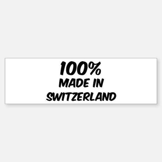 100 Percent Switzerland Bumper Bumper Bumper Sticker