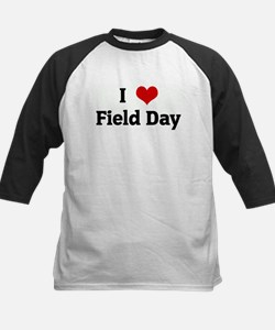 I Love Field Day Kids Baseball Jersey
