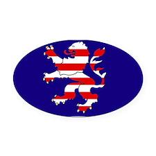 Hessian Lion Oval Car Magnet