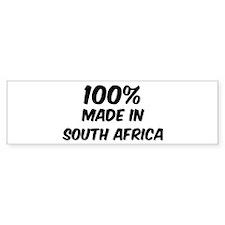 100 Percent South Africa Bumper Bumper Sticker